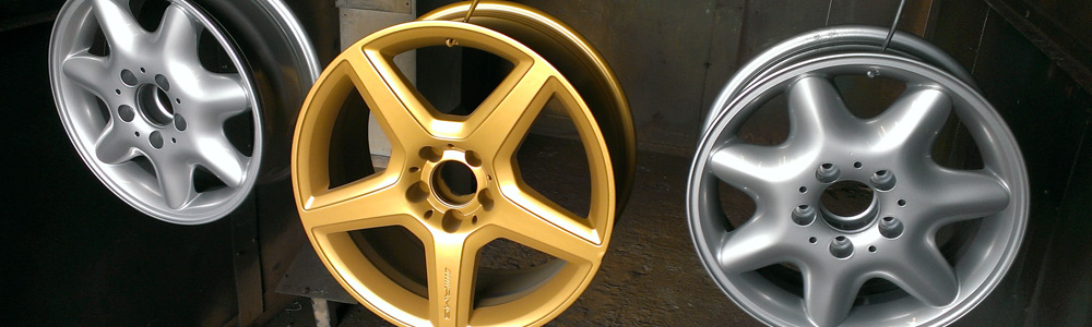 Strip and Blast Alloy Wheels